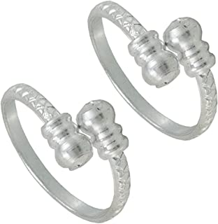 Pcm 92.5 Sterling Silver Plated Plain Toe Ring Jewelry For Women