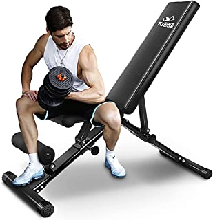 FLYBIRD Adjustable Weight Bench, Utility Gym Bench for Full Body Workout, Multi-Purpose Foldable Incline Decline Benchs - 2019 Version