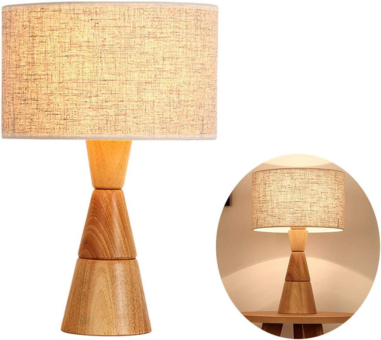 Ruitx LED Holzbettzimmer Lamp Simple Desk Light Creative mit E27 Modern Lampe komfortabel für Schlafzimmer Living Room Office