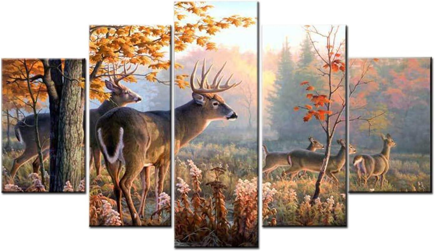 HAOSHUNDA White Tailed Deer Poster Art Award-winning Discount mail order store Wall Decor Room