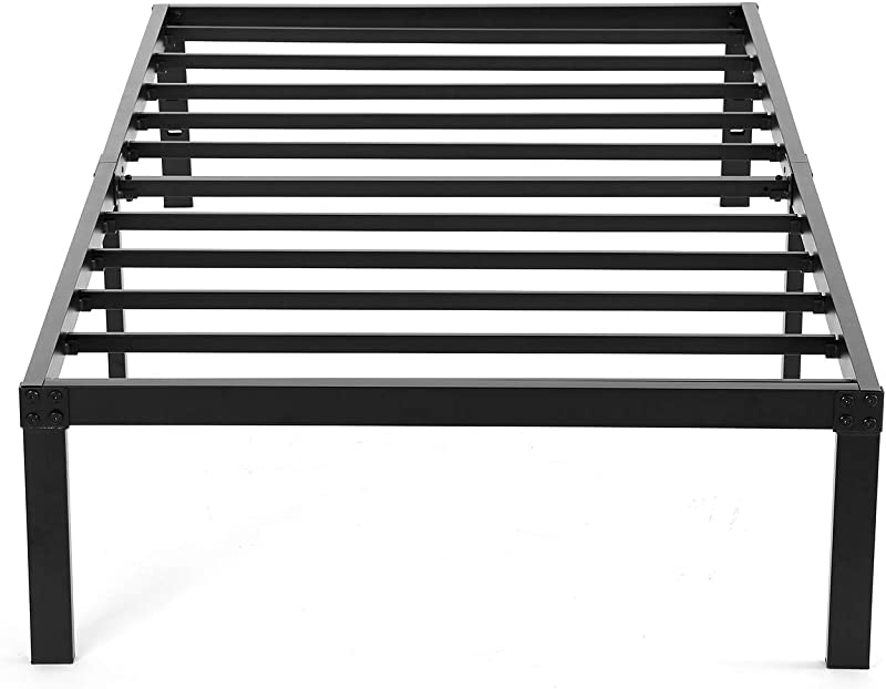 NOAH MEGATRON Twin XL Platform Bed Frame Heavy Duty Slatted Bed Base 14 Inch Mattress Foundation Bed Frame 12 Inch Under Bed Storage No Box Spring Needed Twin XL