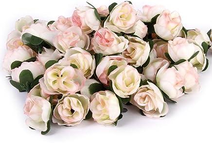 azul Artificial Forma Rose flores Woopower 144/pcs 2,5/pulgadas Mini espuma de rosas ramo de flores DIY boda fiesta decoraci/ón para el hogar Tama/ño libre