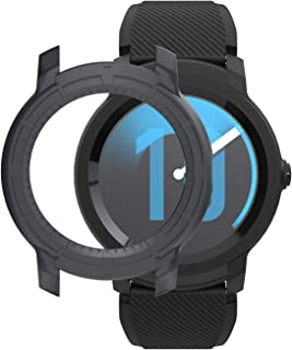 SIKAI Bumper Case Cover for Ticwatch E2 Anti-Scratch Protective Skin for TicWatch E2 Screen Protector Ultra-Light Multi-Colors (Black)