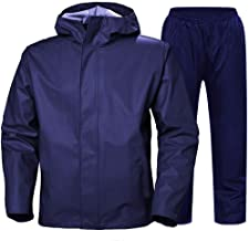 Zoom Rain Coat for Men Waterproof for Bike-Reversible Double Layer with Hood Top and Bottom Packed in a Storage Bag