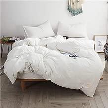 Duvet cover Four Piece Bed Pure White Bed Linens 3/4pc Bedding Set Duvet Cover+Beds Sheet+Pillowcase Luxury Soft Comfortable Bedding Sets (Color : King, Size : 220 * 240cm)