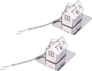 ISKYBOB 2 Pack Mini House Shaped Tea Infuser with Drip Tray,Stainless Steel Tea Filter for Loose Leaf Tea