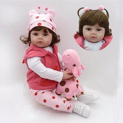 22 ''Reborn handgefertigt Realistische Neugeborenen Puppe Silikon Vinyl lebensecht Baby mädchen Puppe Weißachts Geschenk