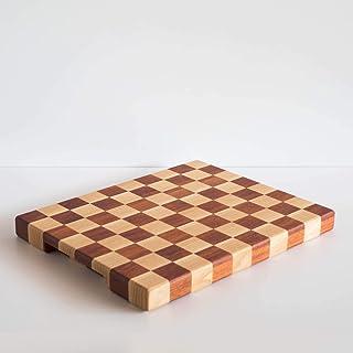 Tagliere a scacchi alla giorgione in legno