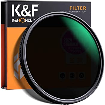 K&F Concept 49mm Fader ND Filter Neutral Density Variable Filter ND2 to ND32 for Camera Lens NO X Spot,Nanotec,Ultra-Slim,Weather-Sealed