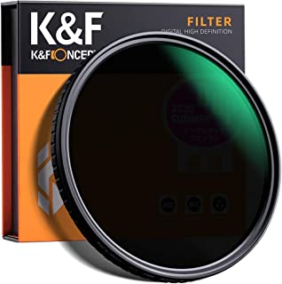 K&F Concept 67mm ND8 to ND128 Variable Neutral Density Filter Slim Fader ND Filter 67mm 3-Stop to 7-Stop for Camera Lens N...