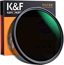 K&F Concept 77mm ND8 to ND128 Variable Neutral Density Filter Slim Fader ND Filter 77mm 3-Stop to 7-Stop for Camera Lens NO X Spot,Nanotec,Ultra-Slim,Weather-Sealed