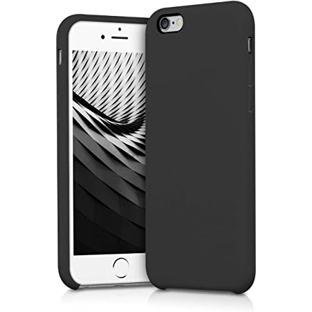 kwmobile TPU Silicone Case Compatible with Apple iPhone 6 / 6S - Case Slim Phone Cover with Soft Finish - Black Matte