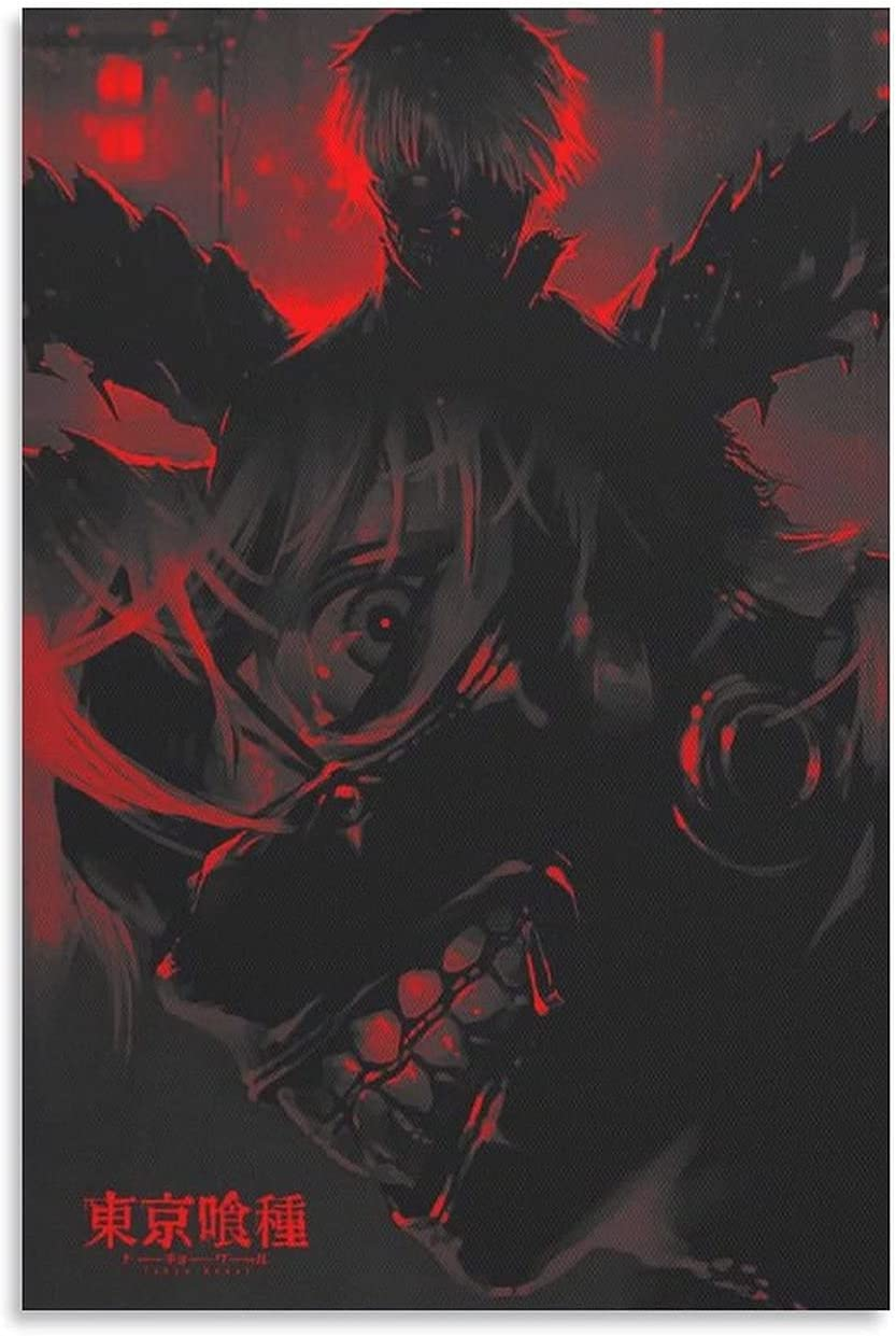 Max 81% OFF XHJH Tokyo Ghoul Poster by Uart 35% OFF and Wall Art Canvas Space