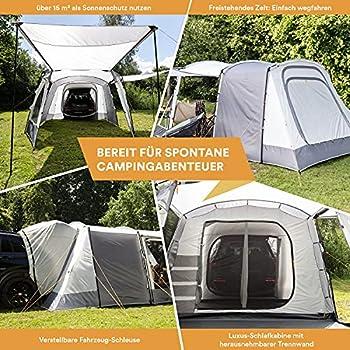 Skandika Pitea XL Up - Tente de hayon tente arrière de camping Auvent SUV, Caddy, voiture - 4 personnes - Tente Autoportante avec cabine de couchage