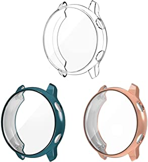 3 Pack Compatible Samsung Galaxy Watch Active Screen Protector Case Cover,YiJYi Ultra Slim Soft Full Coverage Bumper[Sract...