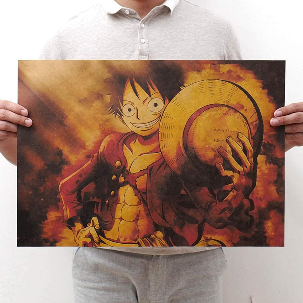 SGOT Poster Anime One Piece Luffy Zoro Poster d/écoratif Peinture murale One Piece 11