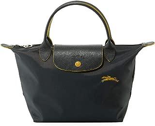 Small Le Pliage Nylon Club Tote Top Handle Bag, Grey