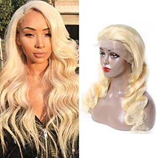 613 Human Hair Wig Lace Frontal Deep Part 13x6 Lace Front Wig Body Wave With Baby Hair Natural Hairline Glueless Wig Platinum Blonde Wig Real Hair Wigs For Women Bleach Knots Wigs 24 Inch Lace Wig