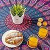momomus arazzo da parete grande mandala - telo mare indiano, etnico - 100% cotone - telo arredo copridivano/copritutto, pareo, multiuso (Viola, 210x230 cm) #2