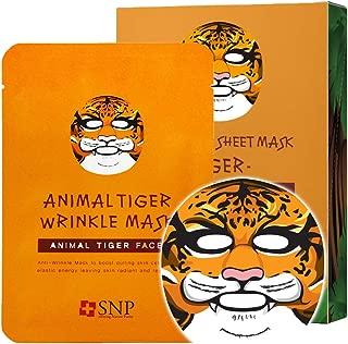 SNP - Animal Tiger Wrinkle Korean Face Sheet Mask - 10 Sheet Pack