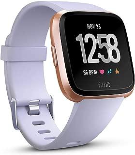 Fitbit EU Versa, (NFC),Periwinkle/Rose Gold Aluminium Case, EU (S & L Bands Included)