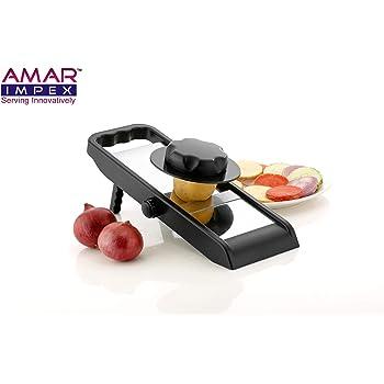 AMAR IMPEX Potato Slicer for Chips Vegetable & Fruit Cutter Slicer,Chipser for Chips Vegetable, Vegetable Slicer for Kitchen, Slicer Vegetable Cutter, Grater and Slicer, Vegetables Cutter for Kitchen