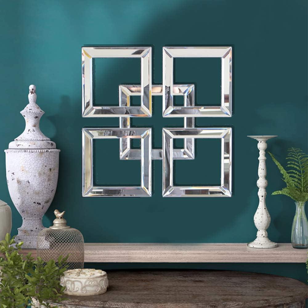QMDECOR Square Mirrored Wall Decor Ranking TOP13 12x12 Mirror Quantity limited inche Decorative