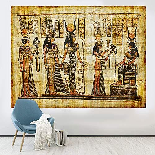 Tapiz egipcio antiguo decoración de la pared, tapices murales antiguos para colgar en la pared, tapiz histórico de la religión antigua egipcia