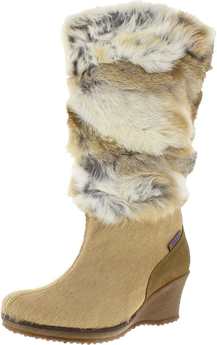 PAJAR Women's Angelica-Lux Fur Winter Boots Beige Size 40 EU/9-9.5 US