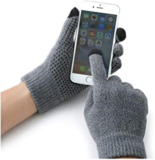 ANSLYQA Texting Touchscreen Gloves Knit Wool Lined Winter Warm for Men Women Driving Running Cycling (1 Pair),