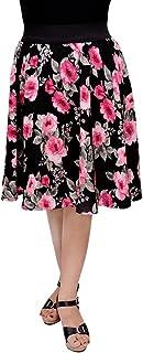 Fabnfab Women's Crepe Skirt
