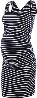 BBHoping Women's Maternity Sleeveless Dresses Maternity Tank Dress Mama Baby Shower Pregnancy Dress