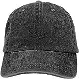 Gorra de béisbol ajustable de algodón lavado vintage lavado para papá con diseño de voleibol de playa, gorra de béisbol para exteriores, color negro