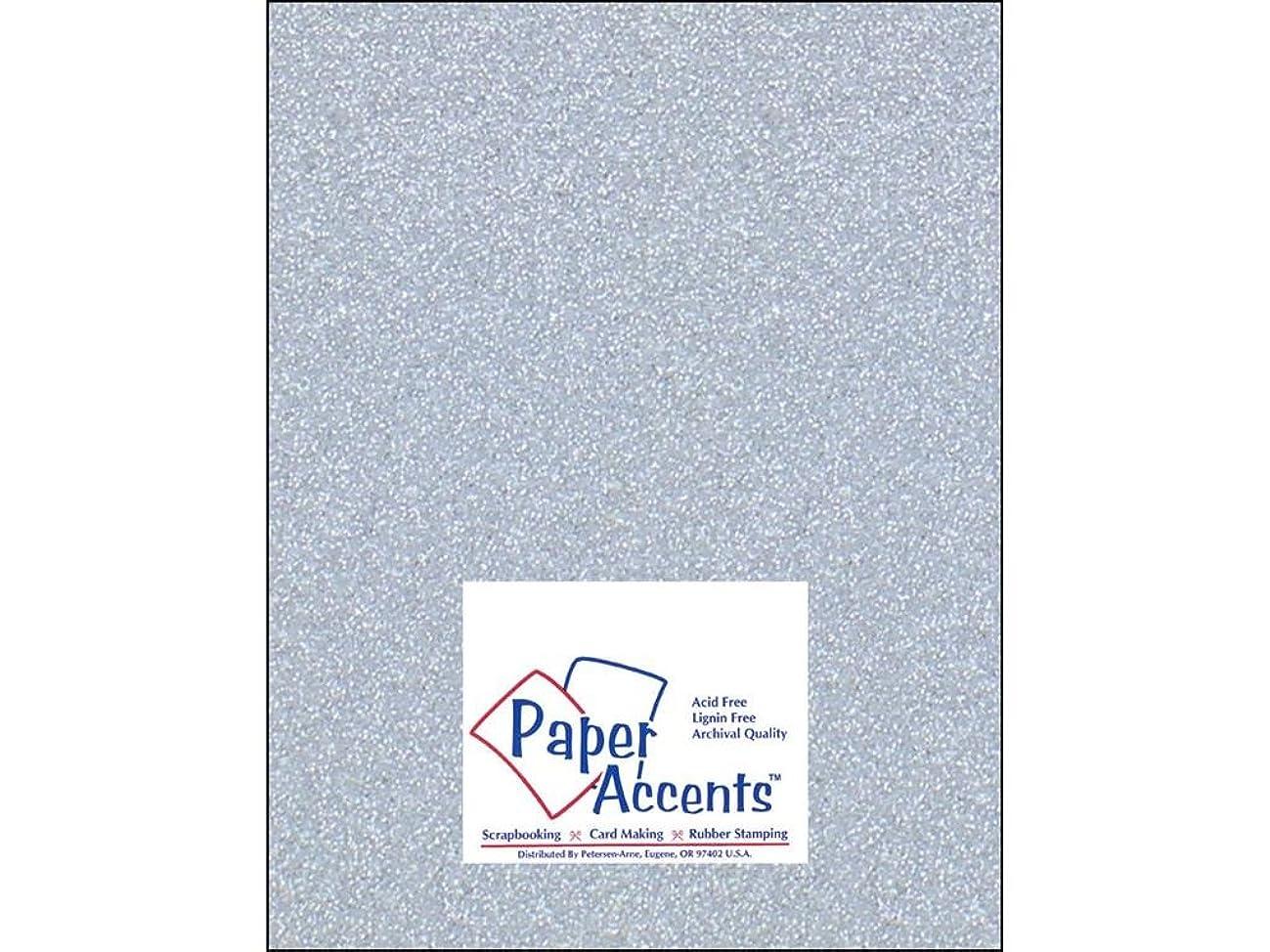 Accent Design Paper Accents Cdstk Glitter 8.5x11 85# Silver