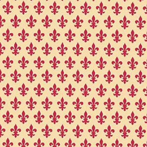 Klebefolie Möbelfolie Lilie French Lily rot 45 cm x 200 cm Heraldik Dekorfolie Selbstklebefolie