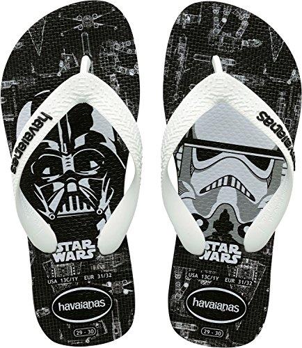 Havaianas Kids Star Wars, Infradito Unisex Bambini, Multicolore (Black/White 6550), 23/24