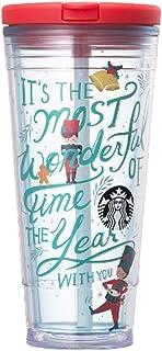 海外限定 スタバ ホリデーレッドコールドカップタンブラー Starbucks Pia Holiday Red Cold Cup Tumbler 591ml [並行輸入品]