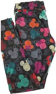 Tall Curvy TC Disney Mickey and Minnie Mouse Geometric Micro Polka Dot Adult Leggings fits 12-18