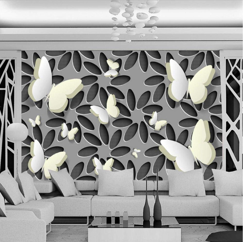 hasta un 65% de descuento Estereoscópico 3D flor mariposa etiqueta etiqueta etiqueta Mural morno salón sofá TV fondo coración Wallpaper a prueba agua-200X140CM  clásico atemporal