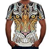 Camiseta de Animales para Hombre, Talla 3D, Camiseta de Tigre, Camisetas de Animales para Ropa para Hombre M