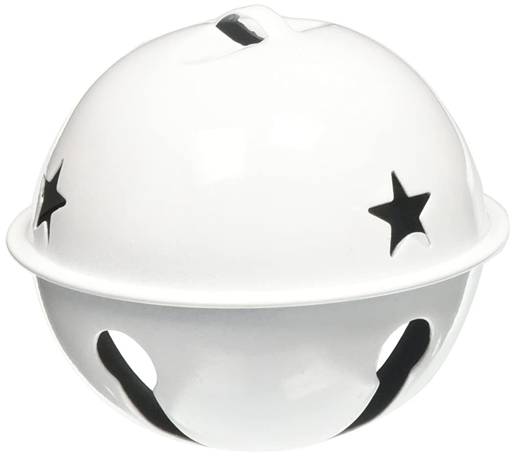 Darice 1 Piece Jingle Bell, White with Star Cutouts