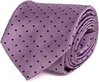 40 Colori - Cravatta in seta tinta in filo a pois piccoli