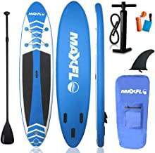 """Inflatable Stand Up Paddle Board 10'6"""" Long & 6"""" Thick with Premium SUP Accessories & Carry Bag 