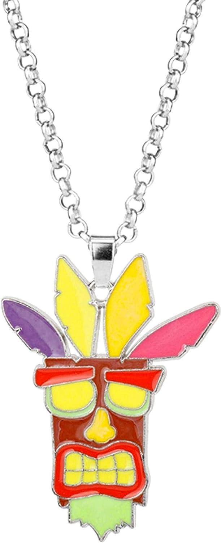 LJQJYFC Hot Game Crash Bandicoot Pendant Necklace Power Armor Cosplay Jewelry Necklace Kids Souvenirs Chaveiro Llavero Costume