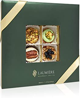 Le Cadeau Parfait Collection | Square Box (16 Pieces) | Premium Fruits Gift Box, Holiday Nuts & Dried Fruits Gift Basket, Healthy Gourmet Snack | Birthday, Corporate Gift, Family Party, Sympathy |