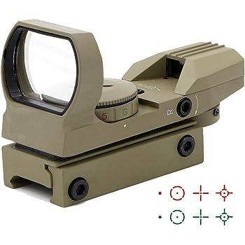 Ohuhu Red Green Dot Gun Sight Scope Reflex Sight with  4 Reticles