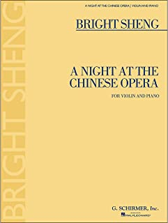 G. Schirmer A Night At The Chinese Opera for Violin And Piano By Sheng
