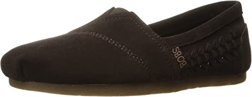 Skechers BOBS Wohommes Luxe Bobs-Boho Crown Flat, Chocolate, 6 M US