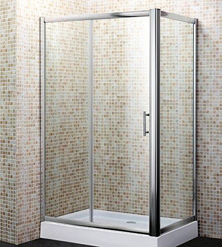 MondoDoccia Box doccia in cristallo trasparente cm. 80x120 Cabina mod. Yadira