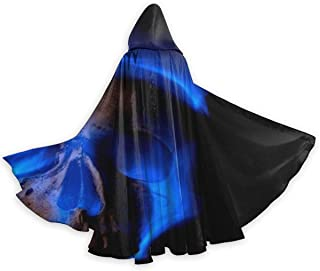 YongColer Unisex Full Length Hooded Cloak Halloween Christmas Party Cape Adult Cloak for Cosplay Costume Party One Size